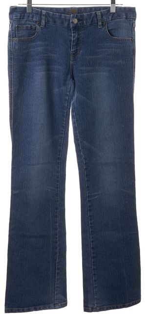 """7 FOR ALL MANKIND Blue Stretch Cotton """"A"""" Pocket Flare Jeans"""
