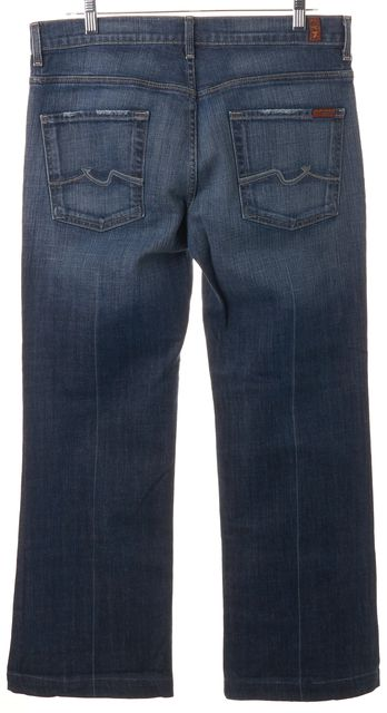 7 FOR ALL MANKIND Blue Stretch Cotton Ginger Flare Jeans