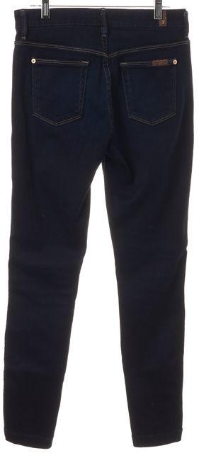 7 FOR ALL MANKIND Blue Dark Wash Stretch Denim Skinny Jeans