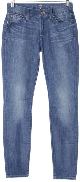 7 FOR ALL MANKIND Blue Light Wash Denim Gwenevere Skinny Jeans