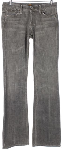 7 FOR ALL MANKIND Gray Stretch Cotton Flynt Boot Cut Jeans