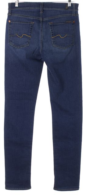 7 FOR ALL MANKIND Blue Stretch Cotton Roxanne Skinny Jeans