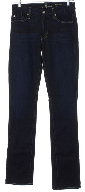 7 FOR ALL MANKIND Blue Kimmie Mid-Rise Straight Leg Jeans