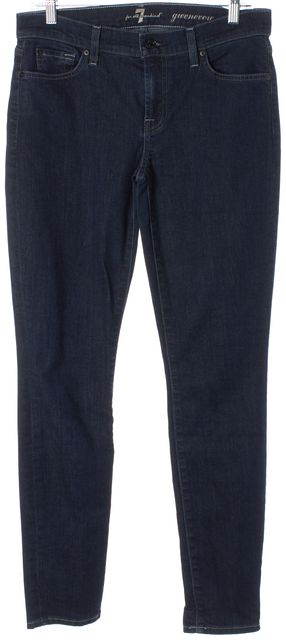 7 FOR ALL MANKIND Blue Gwenevere Skinny Jeans