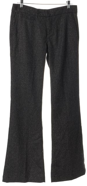 7 FOR ALL MANKIND Gray Gold Wool Trousers Pants
