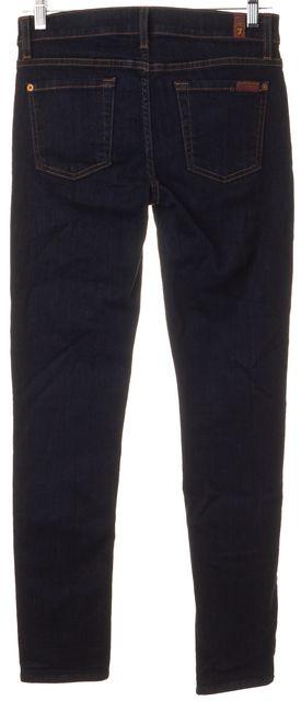 7 FOR ALL MANKIND Blue Dark Wash Denim The Slim Cigarette Fit Jeans