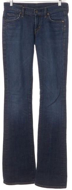 7 FOR ALL MANKIND Blue Kelly Low Waist Boot Cut Jeans