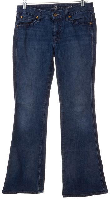 7 FOR ALL MANKIND Blue A Pocket Mid-Rise Flare Jeans