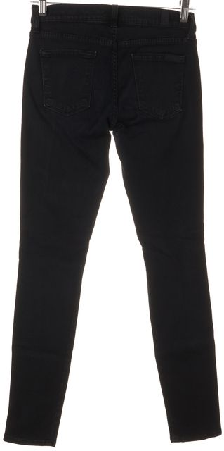7 FOR ALL MANKIND Dark Blue Gwenevere Stretch Elastic Side Skinny Jeans