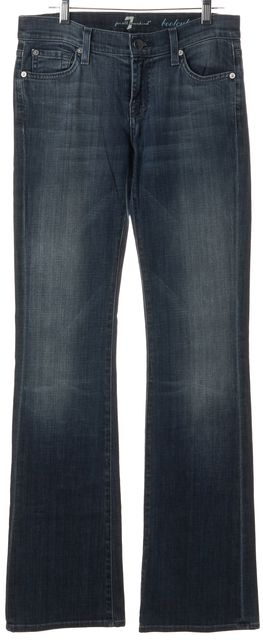 7 FOR ALL MANKIND Blue Cotton Denim Boot Cut Jeans