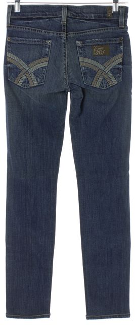 7 FOR ALL MANKIND Blue Super Skinny Organic Jeans