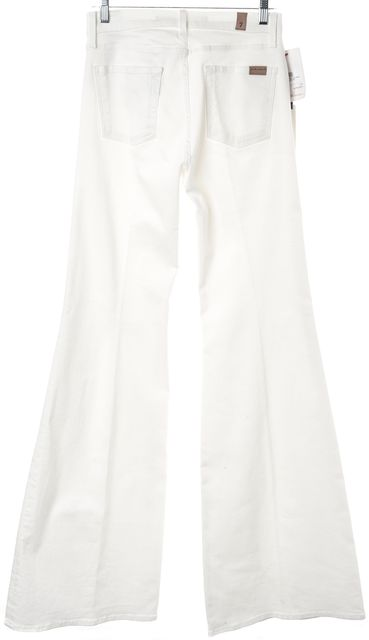7 FOR ALL MANKIND White HW Flare Boot Cut Bell Bottom Jeans
