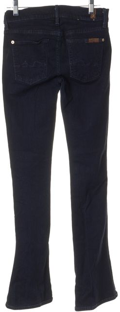 7 FOR ALL MANKIND Blue Stretch Cotton Kaylie Straight Leg Jeans