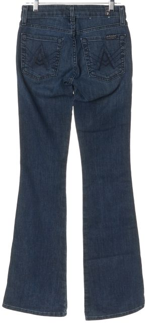 7 FOR ALL MANKIND Blue The A Pocket Boot Cut Flare Leg Jeans