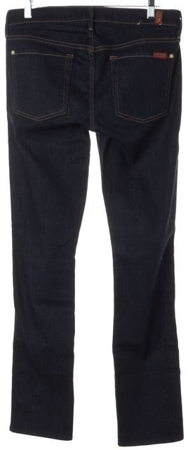 7 FOR ALL MANKIND Blue The Modern Mid-Rise Straight Leg Jeans