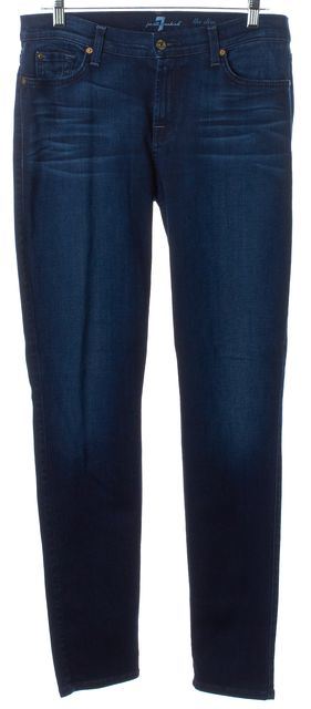 7 FOR ALL MANKIND Vibrant Dark Blue Wash Skinny Jeans