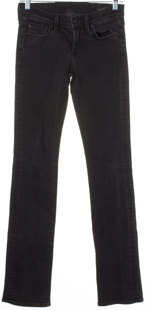 7 FOR ALL MANKIND Solid Black Wash Skinny Petite Jeans