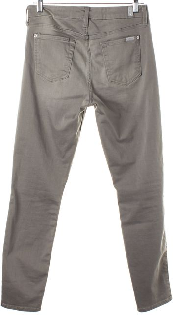7 FOR ALL MANKIND Gray Slim Fit Jeans