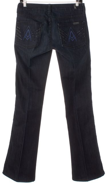 7 FOR ALL MANKIND Dark Navy Blue 'A' Line Flare Bootcut Jeans