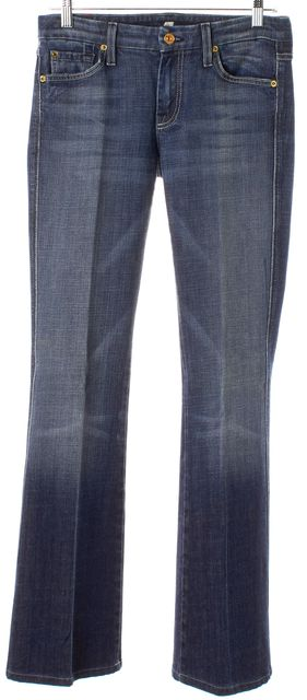 7 FOR ALL MANKIND Blue Gradient Wash 'A' Pocket Flare Jeans