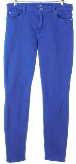 7 FOR ALL MANKIND Bright Blue Skinny Jeans