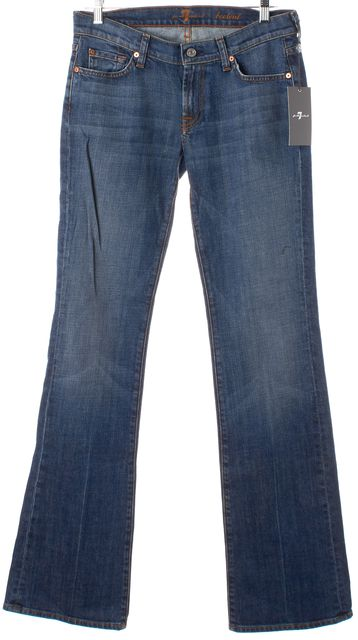 7 FOR ALL MANKIND Blue Medium Wash Boot Cut Flare Jeans