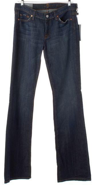 7 FOR ALL MANKIND Dark Navy Blue Boot Cut Jeans