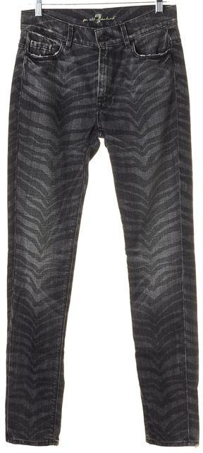 7 FOR ALL MANKIND Gray Zebra Print Slim Fit Skinny Jeans