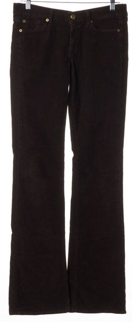 7 FOR ALL MANKIND Brown Stretch Cotton Bootcut Corduroy Pants