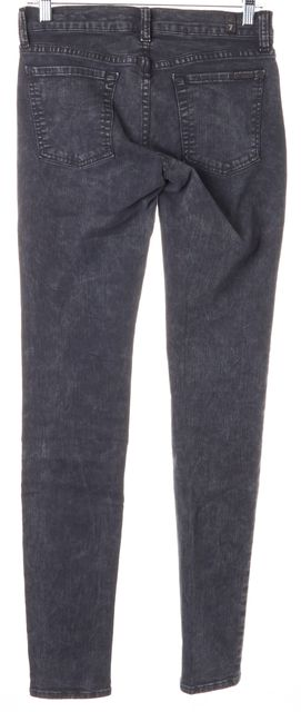 7 FOR ALL MANKIND Washed Gray Stretch Cotton Skinny Jeans