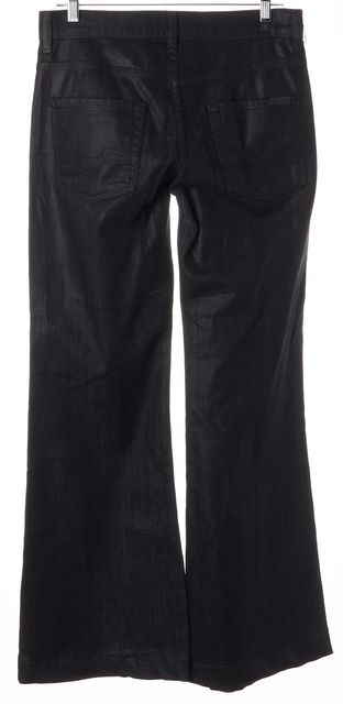 7 FOR ALL MANKIND Coated Dark Blue Ginger Flare Jeans