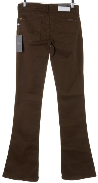 7 FOR ALL MANKIND Brown Kaylie Slim Sexy Supermodel Boot Pants