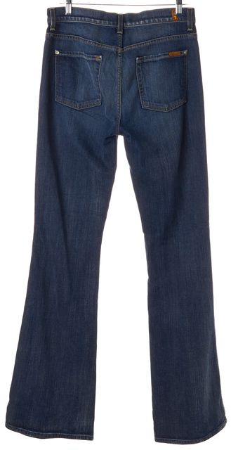 7 FOR ALL MANKIND Blue High Rise Vintage Boot Cut Jeans