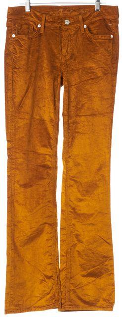 7 FOR ALL MANKIND Orange Corduroys Flare Pants