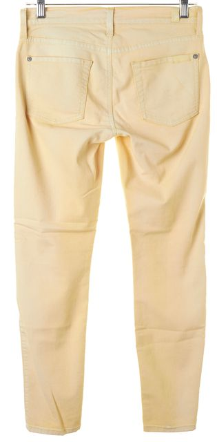 7 FOR ALL MANKIND Pale Camel Beige Cropped Skinny Jeans