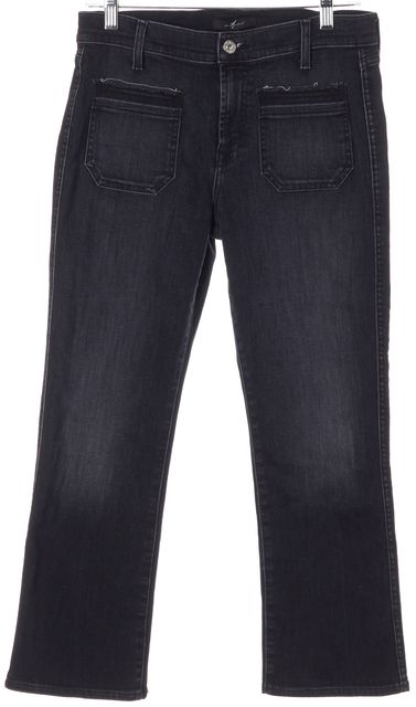 7 FOR ALL MANKIND Blue Stretch Cotton Mid-Rise Skinny Jeans
