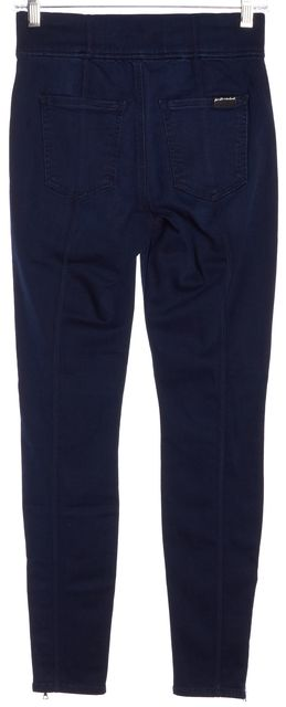 7 FOR ALL MANKIND Blue Slim Illusion Luxe Jegging Leggings
