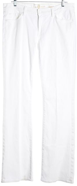 7 FOR ALL MANKIND White Mid-Rise Bootcut Jeans