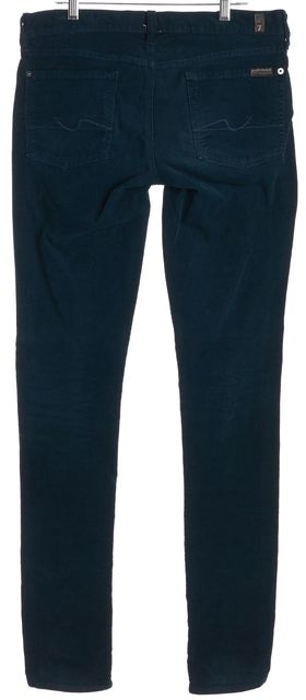 7 FOR ALL MANKIND Green Roxanne Corduroys Pants