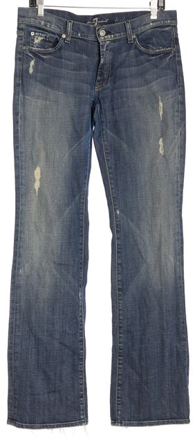 7 FOR ALL MANKIND Embellished Wide Leg Bootcut Jeans