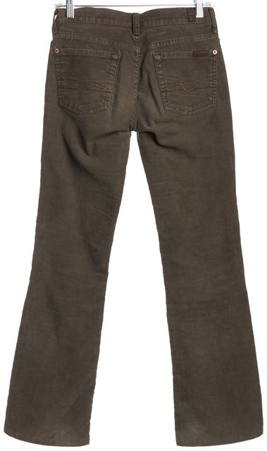 7 FOR ALL MANKIND Brown Boot Cut Corduroys Pants