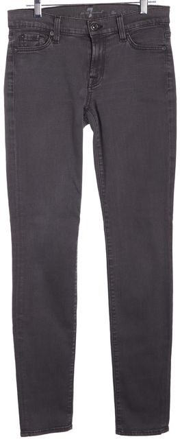 7 FOR ALL MANKIND Gray Skinny Jeans