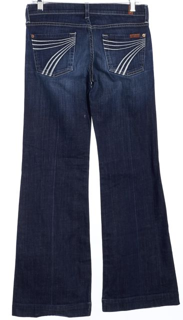 7 FOR ALL MANKIND Blue Flare Jeans