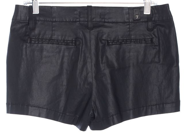 7 FOR ALL MANKIND Black Pleated Casual Shorts