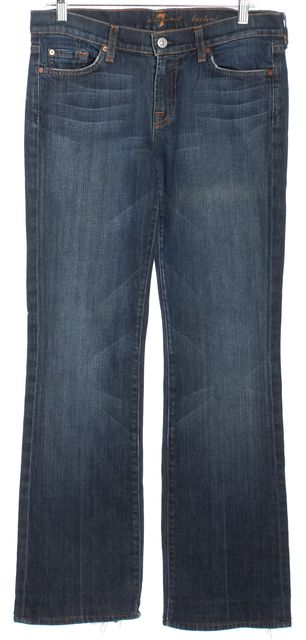 7 FOR ALL MANKIND Medium Wash Mid-Rise Boot Cut Jeans
