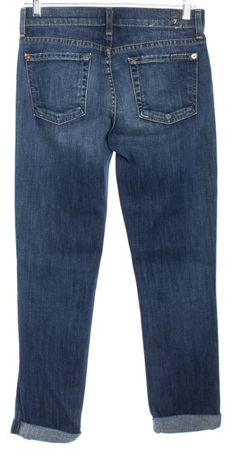 7 FOR ALL MANKIND Blue Cropped Jeans