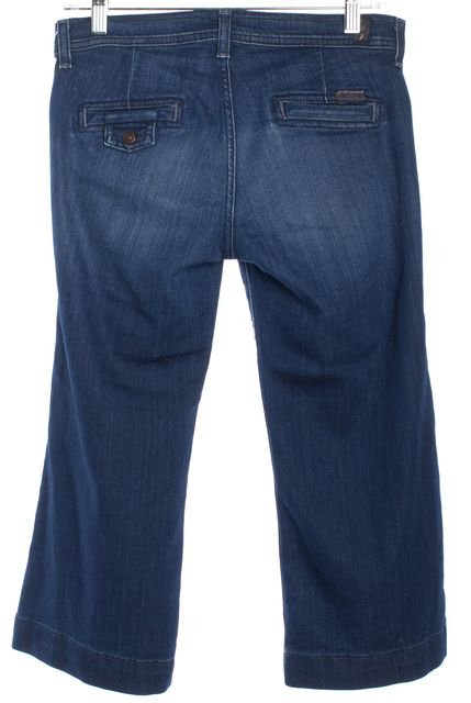 7 FOR ALL MANKIND Blue Capri Jeans