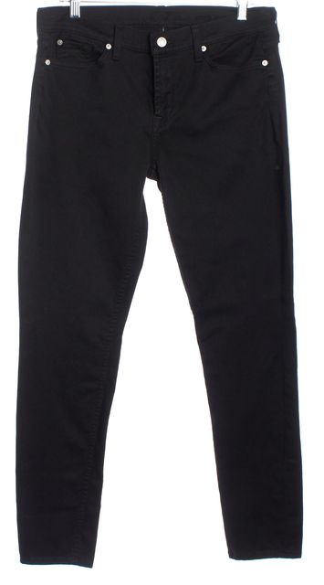 7 FOR ALL MANKIND Black Gwenevere Skinny Jeans