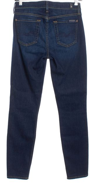 7 FOR ALL MANKIND Dark Wash Mid-Rise Ankle Skinny Jeans