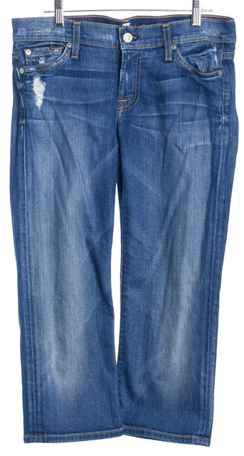 7 FOR ALL MANKIND Blue Crop Josefina Cropped Jeans